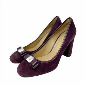 Michael Kors Caroline Bow Purple Pumps Damson 8
